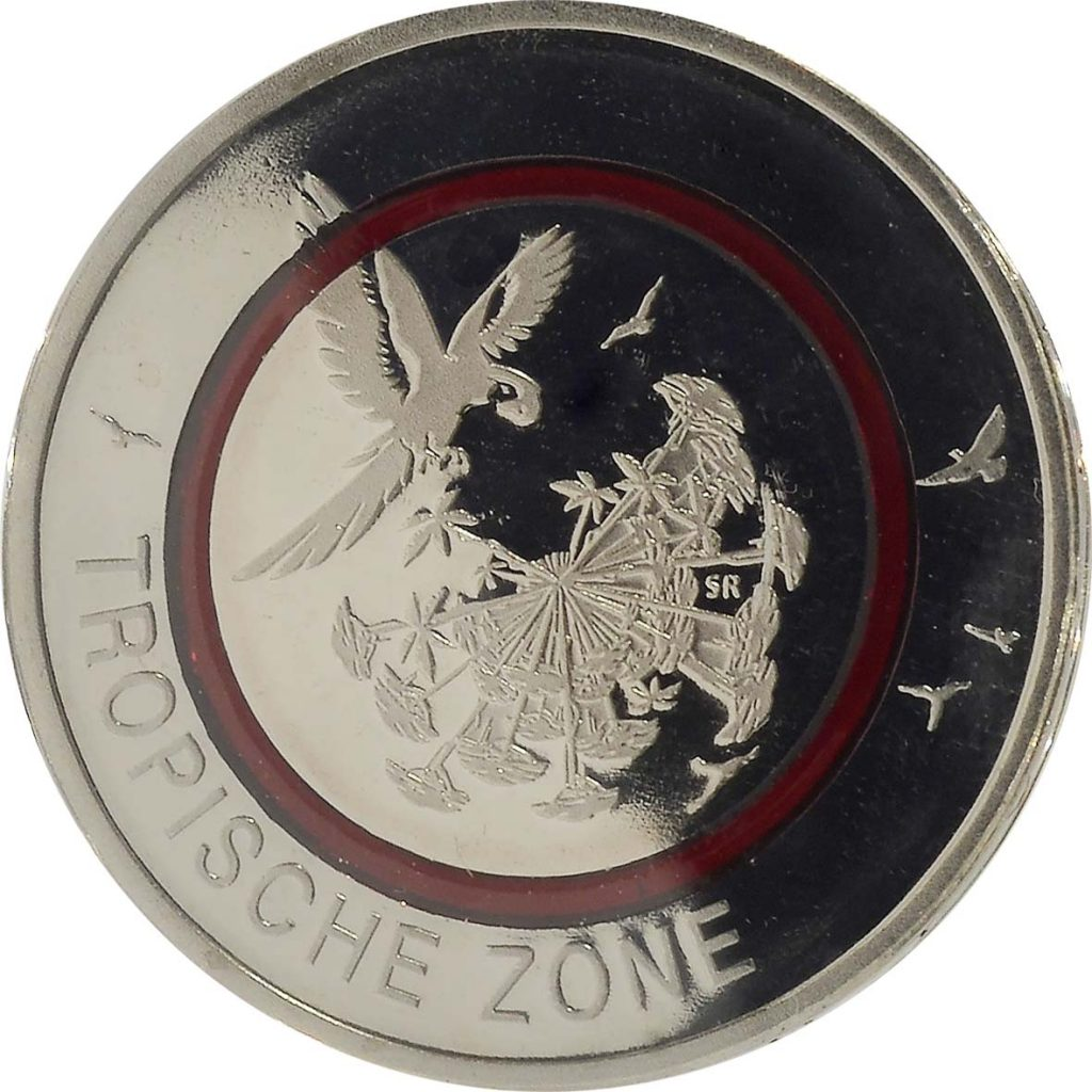 5 Euro Münze Tropische Zone 2017