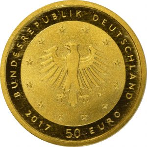 50 Euro Lutherrose 2017 Rückseite
