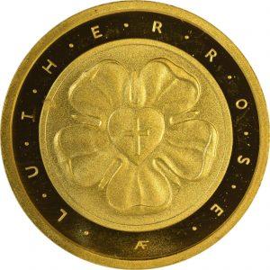 50 Euro Lutherrose 2017 Vorderseite