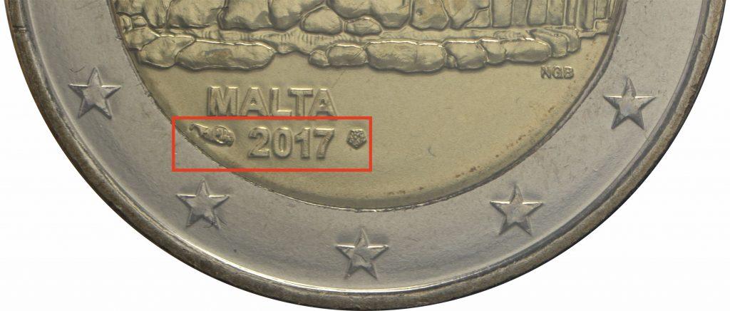 2 Euro Malta 2017 aus Coincard