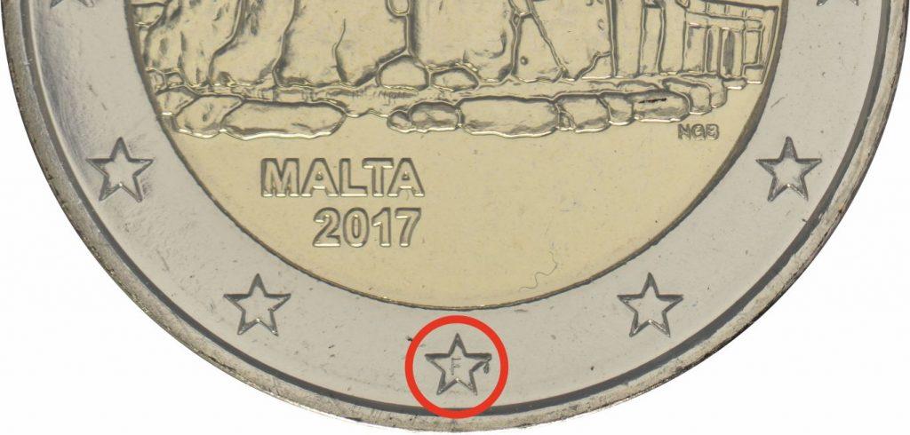 2 Euro Malta 2017 aus dem KMS Malta 2017