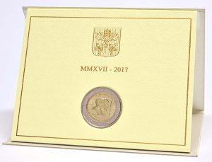 2 Euro Vatikan 2017 im Folder