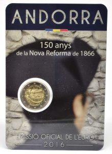 2 Euro Andorra 2016 Reform Coincard