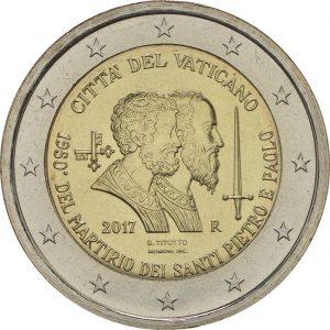 2 Euro Vatikan 2017 Stgl. /BU