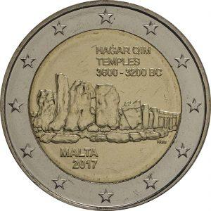 2 Euro Malta 2017 Hagar Qim
