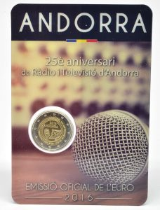2 Euro Andorra 2016 Rundfunk / TV Coincard