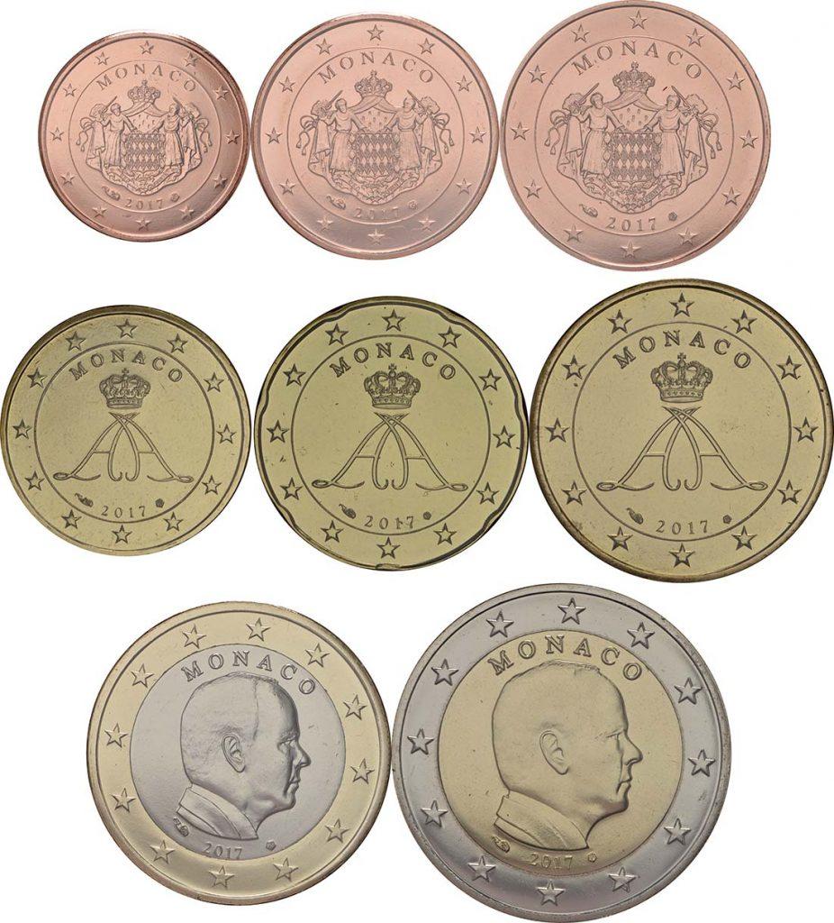 von 1 Cent bis 2 Euro