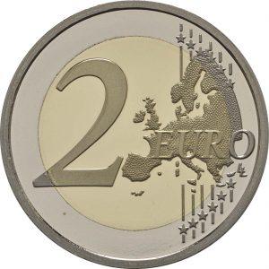 Vorderseite 2 Euro Monaco 2017 PP Karabinierskompanie