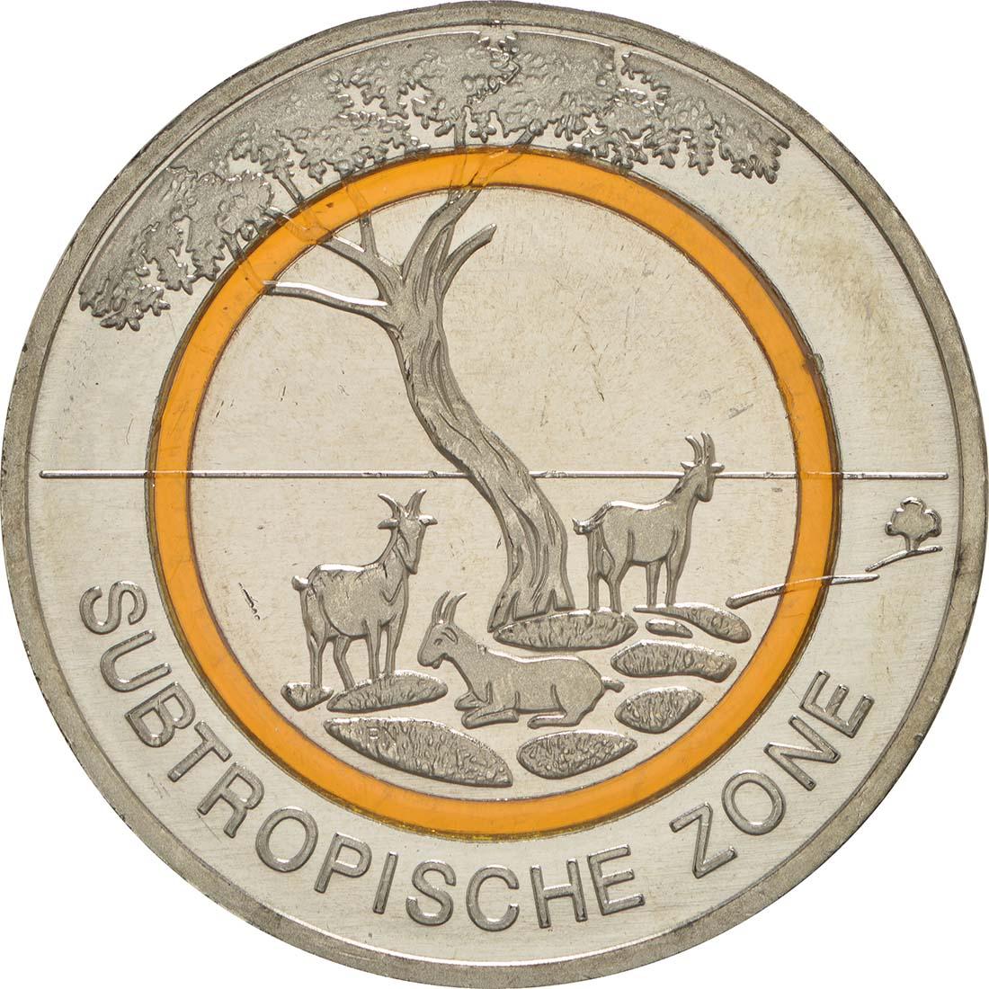 5 Euro Münze Subtropische Zone 2018 Münzenhandlung Tobias Honscha