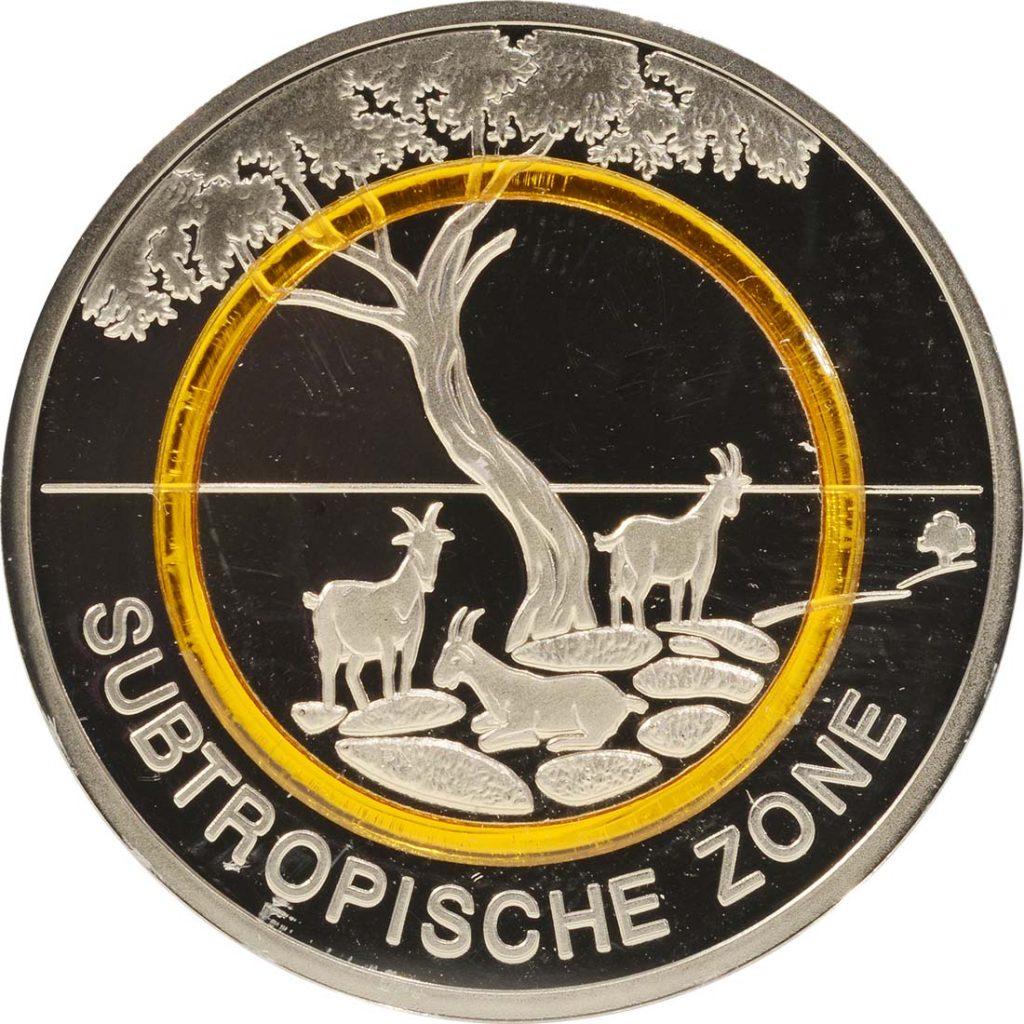 5 Euro Münze Subtropische Zone 2018