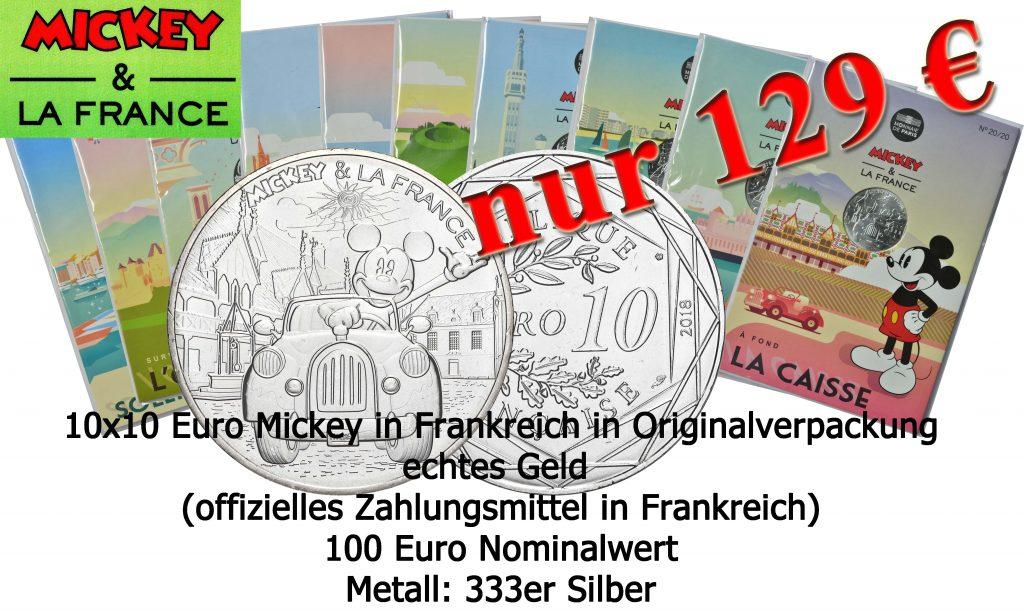 Mickey Mouse / Micky Maus Gedenkmünzen